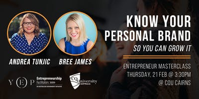 Know Your Personal Brand Masterclass with Andrea Tunjic & Bree James