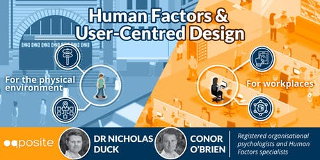 User-Centred Design for the Physical and Workplace Environments tickets