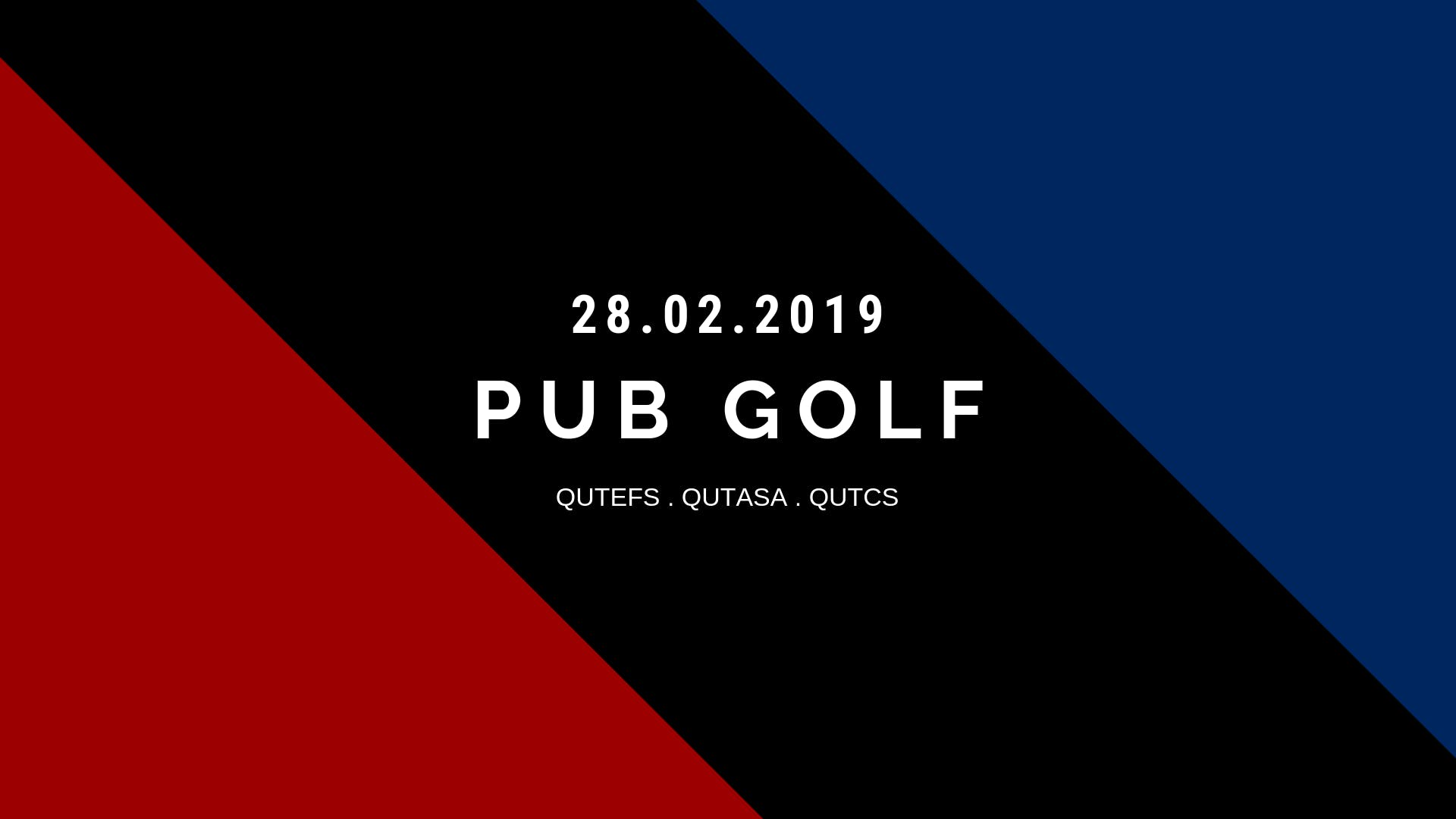 Red vs Blue vs Black Pub Golf