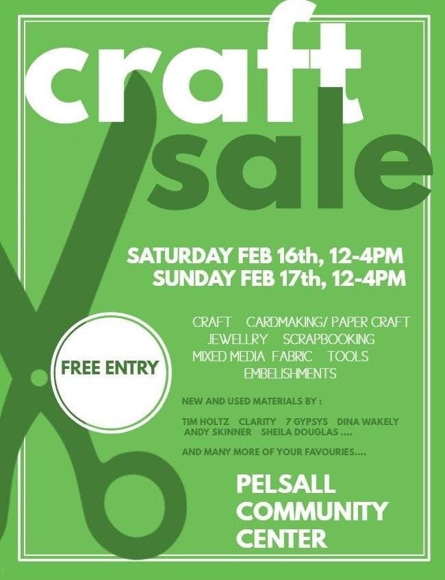 Craft Sale 16 Feb 2019
