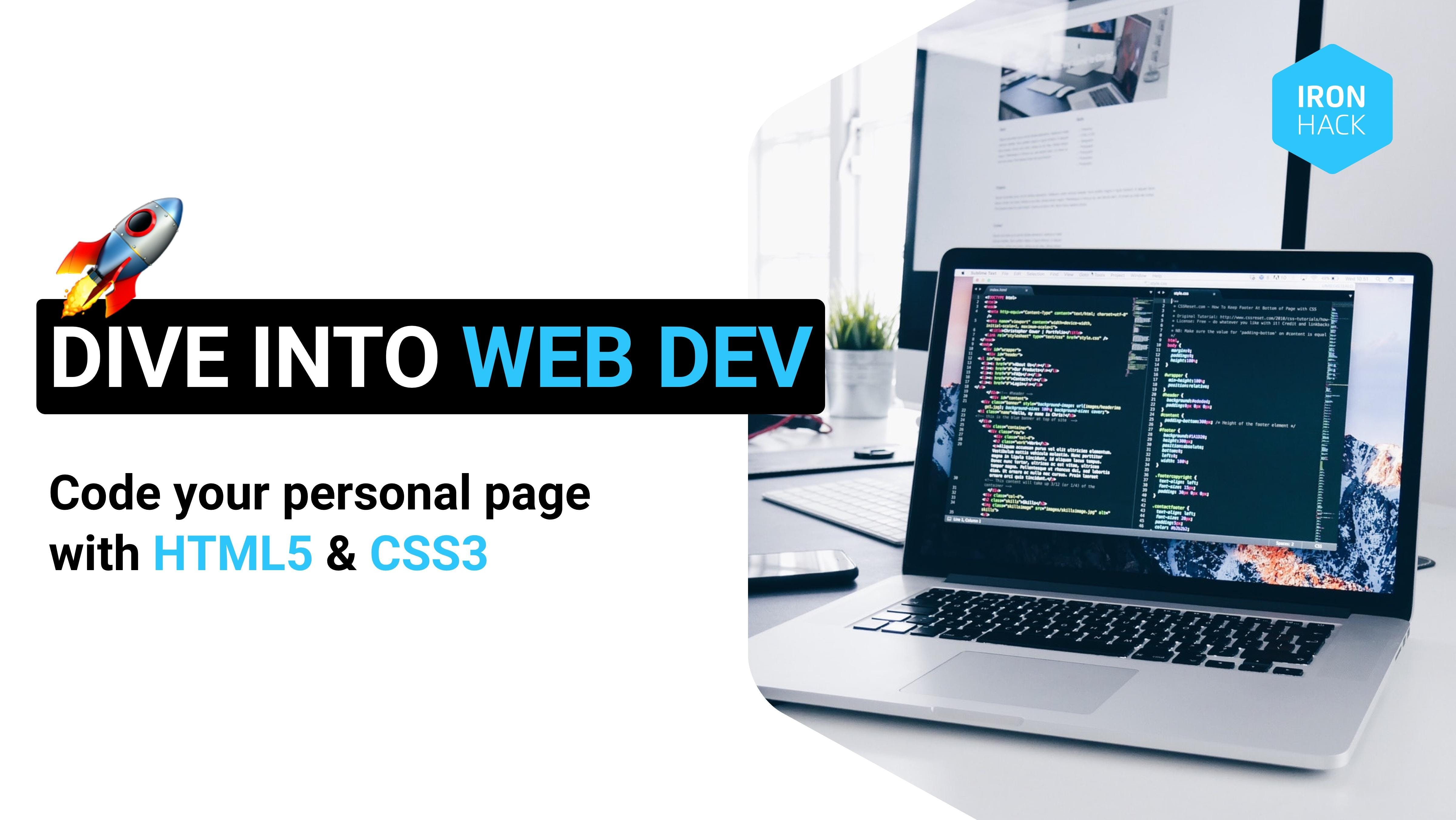 Dive into Web Development: Code Your Personal