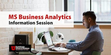 MSBA Information Session | September 21st, 2019 tickets