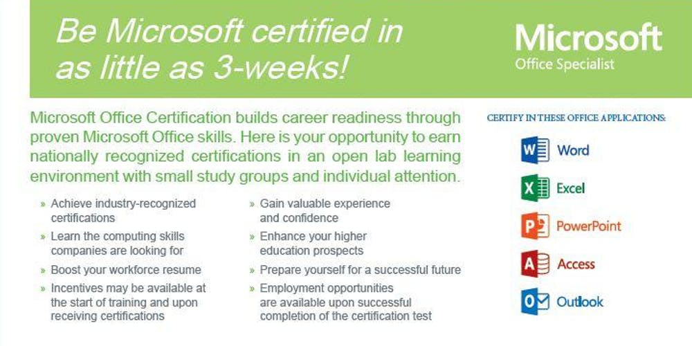 Free Computer Training For Ages 18 24 Microsoft Office And