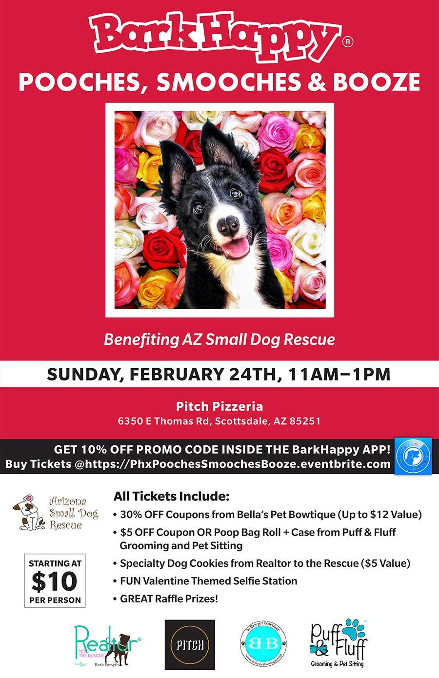 BarkHappy Phoenix: Pooches, Smooches & Booze Benefiting Arizona Small Dogs!