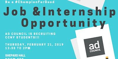 JOB & INTERNSHIP OPPORTUNITY