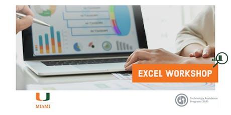 Microsoft Excel Workshop - Technology Assistance Program (TAP) tickets