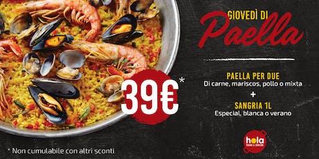 PaellaMania @ Hola - Tapas & Paellas biglietti