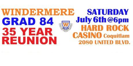 Windermere Grad 84 tickets