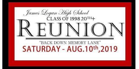 James Logan HS Class of 1998 20th+ year Reunion tickets