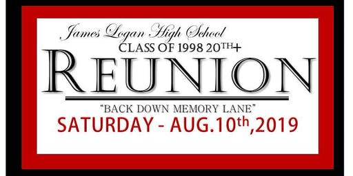 James Logan HS Class of 1998 20th+ year Reunion