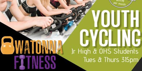 315pm Athlete Cycling (youth class) Tuesday or Thursday tickets