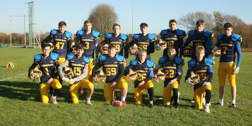 U17's and U19's American Football training