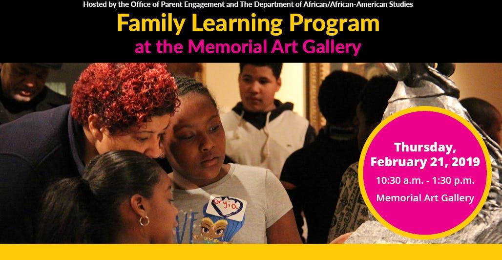 Family Learning Program at the Memorial Art G