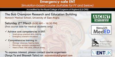 Emergency-safe ENT - Simulation Based Course