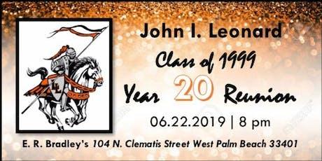 J.I.L. Class of 1999 Reunion tickets
