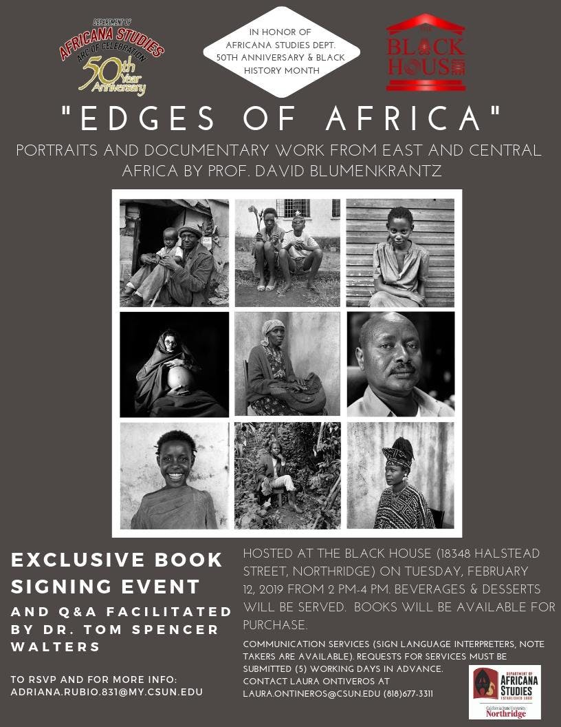 Book Signing and Q&A with `Edges of Africa` Author David Blumenkrantz