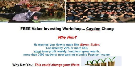 FREE:  Value Investing Workshop 25 July 2019 (Thursday) tickets