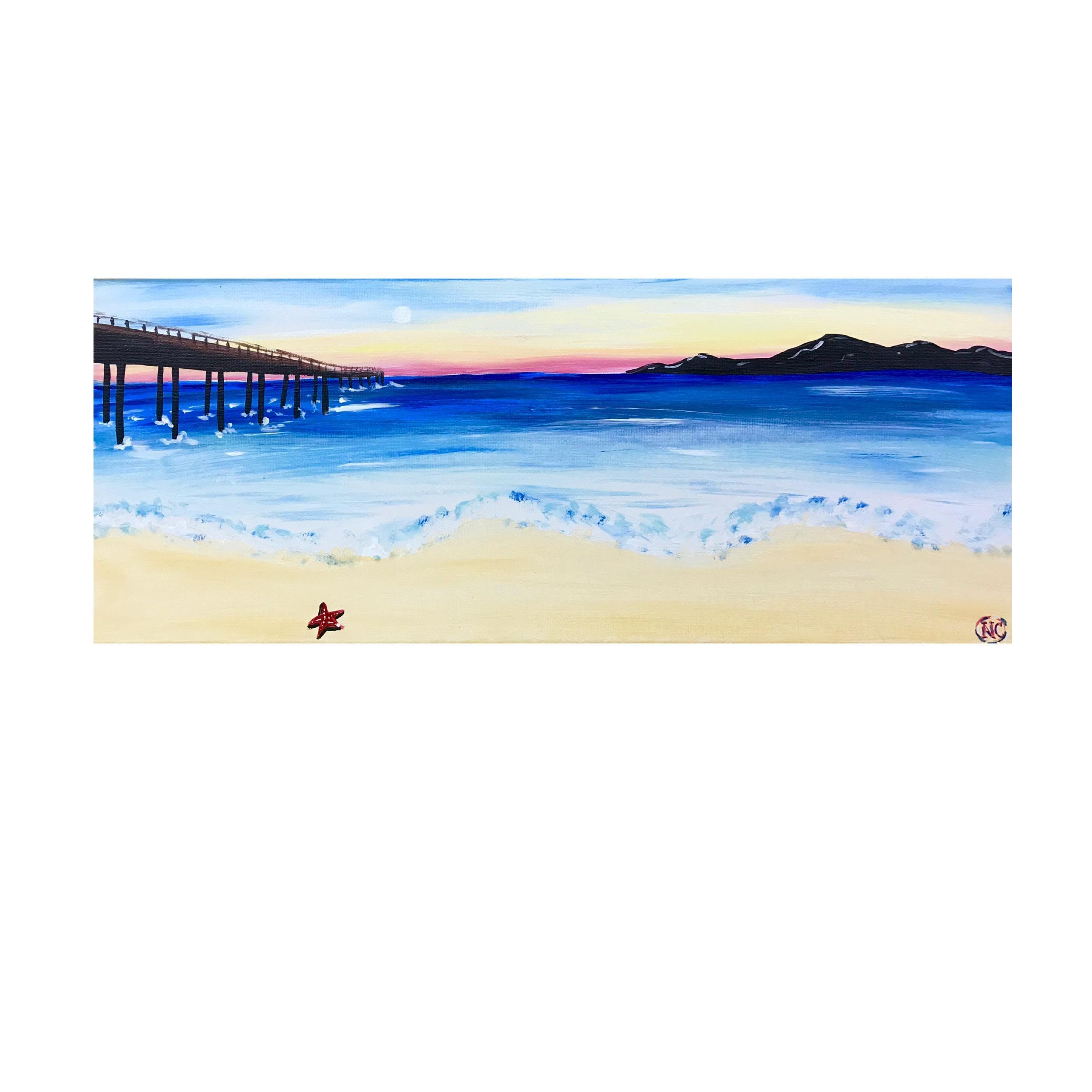 """Adult Open Paint (18yrs+) """"Boardwalk"""""""