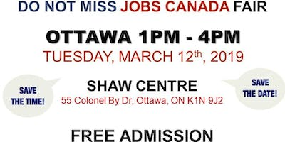OTTAWA JOB FAIR - March 12th, 2019
