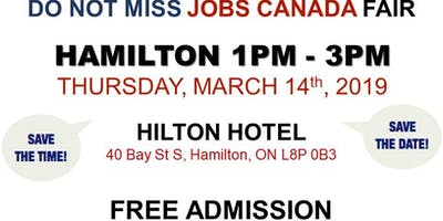 Hamilton Job Fair –  March 14th, 2019