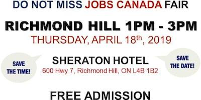 Richmond Hill Job Fair – April 18th, 2019