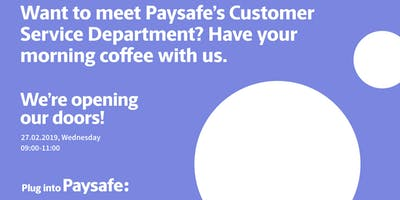 Meet Paysafe's Customer Service Team! Have your morning coffee with us.