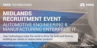 Midlands Recruitment Event - Automotive and Manufacturing Enterprise IT