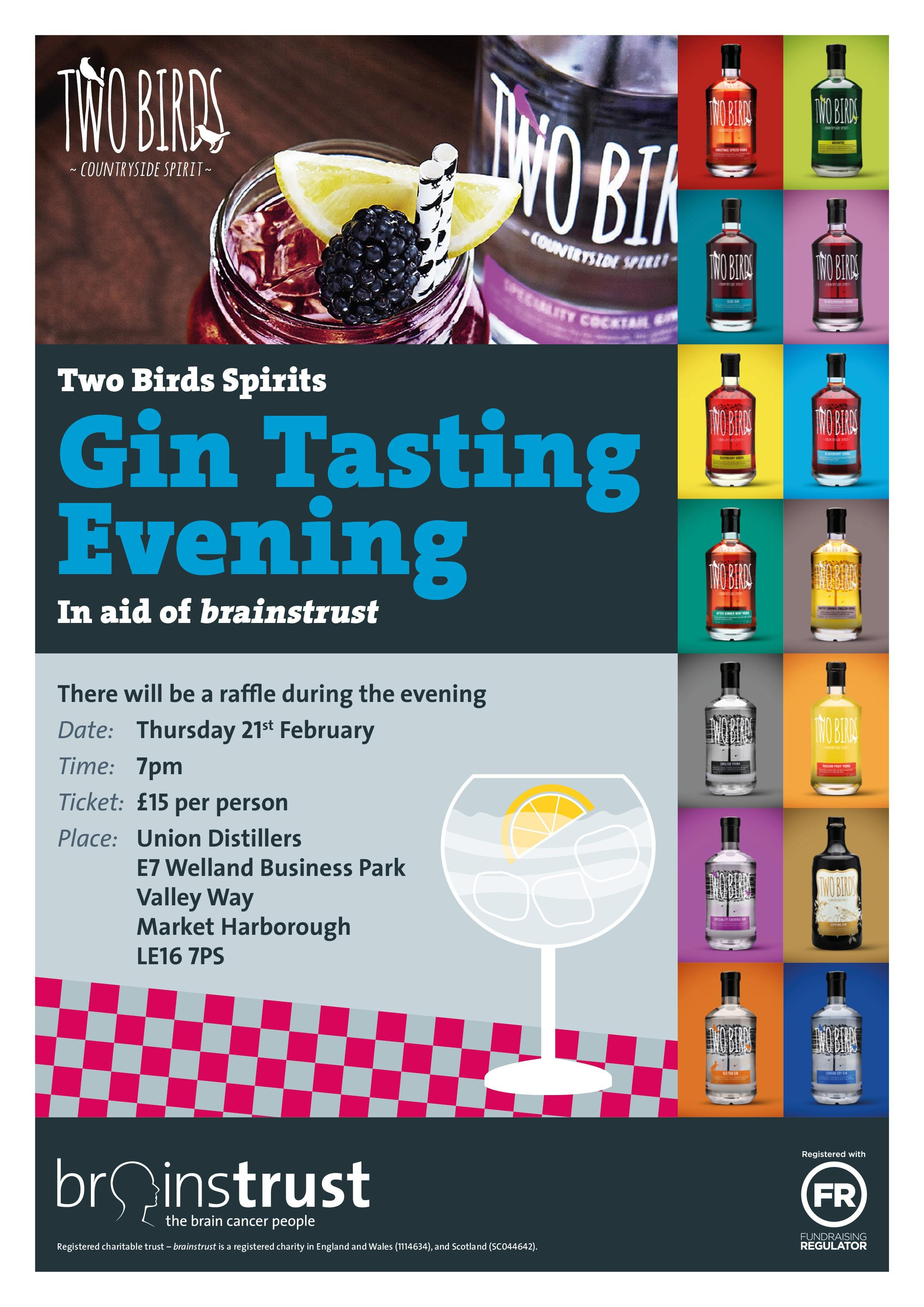 Two Birds Spirits Gin Tasting Evening - in ai