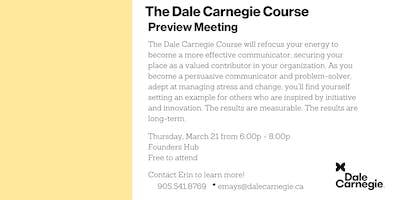 Dale Carnegie Course® - Preview Meeting (Burlington)