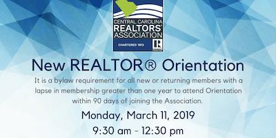 March New REALTOR® Orientation
