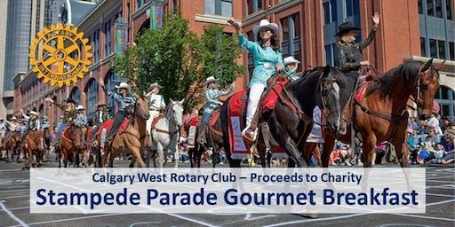 2019 Calgary West Rotary Club Calgary Stampede Parade Gourmet Breakfast (July 5)
