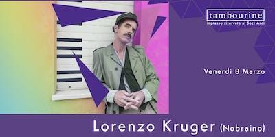 Lorenzo Kruger in concerto al Tambourine