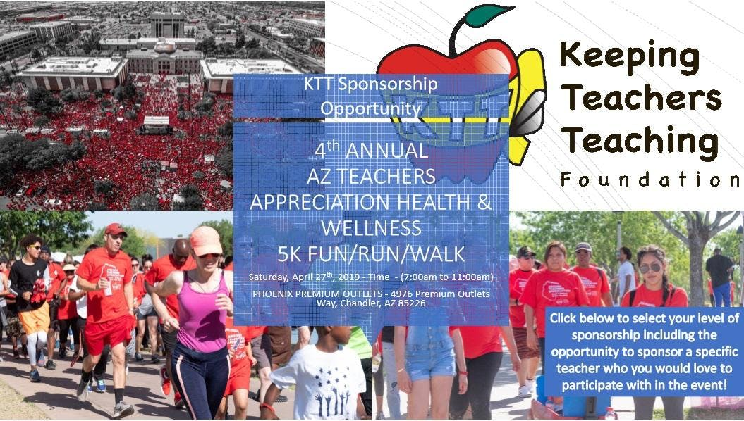 4th Annual AZ Teachers Appreciation Health & Wellness Fun/Run/Walk
