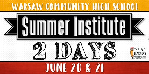 Summer Institute 2019: 2 Day Registration