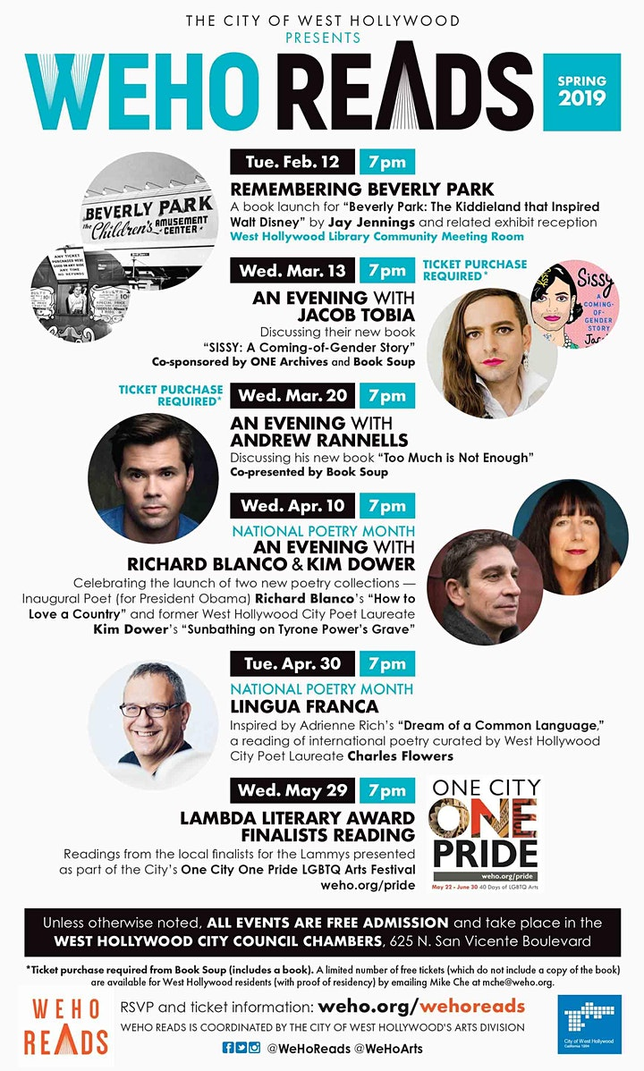 WeHo Reads Celebrates National Poetry Month: Lingua Franca image