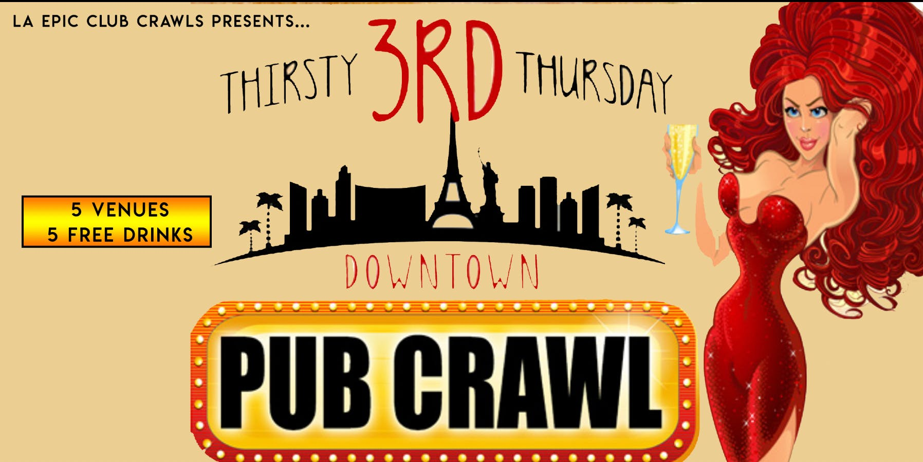 THIRD THURSDAY Fremont Street Bar Crawl