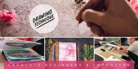 Drawing Technique: Absolute Beginners & Improvers (6 week course) tickets