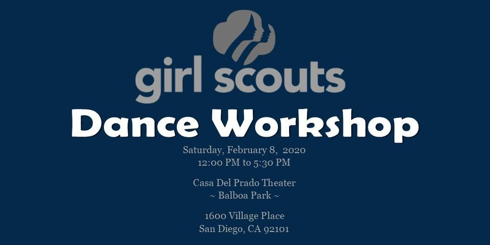 Calendar Of Events In San Diego February 2020 Collage 2020 ~ Girl Scouts Dance Workshop Registration, Sat, Feb 8