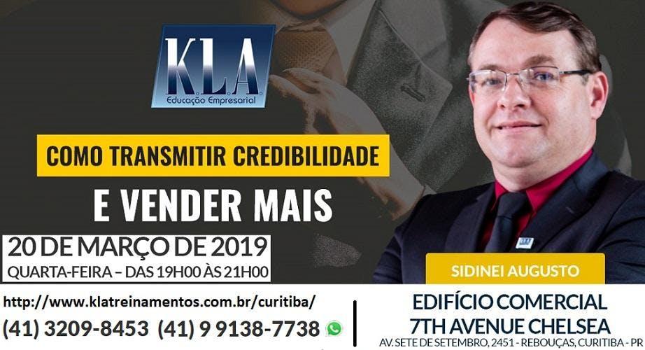 60f29818964 PALESTRA - `COMO TRANSMITIR CREDIBILIDADE E VENDER MAIS` - 20 MAR 2019
