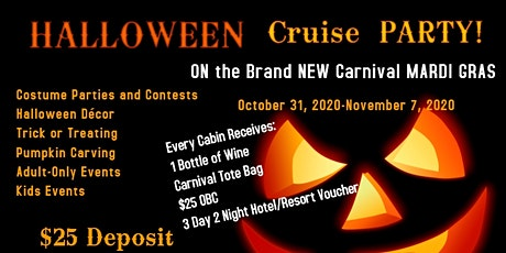 HALLOWEEN 2020 on the BRAND NEW Carnival MARDI GRAS tickets