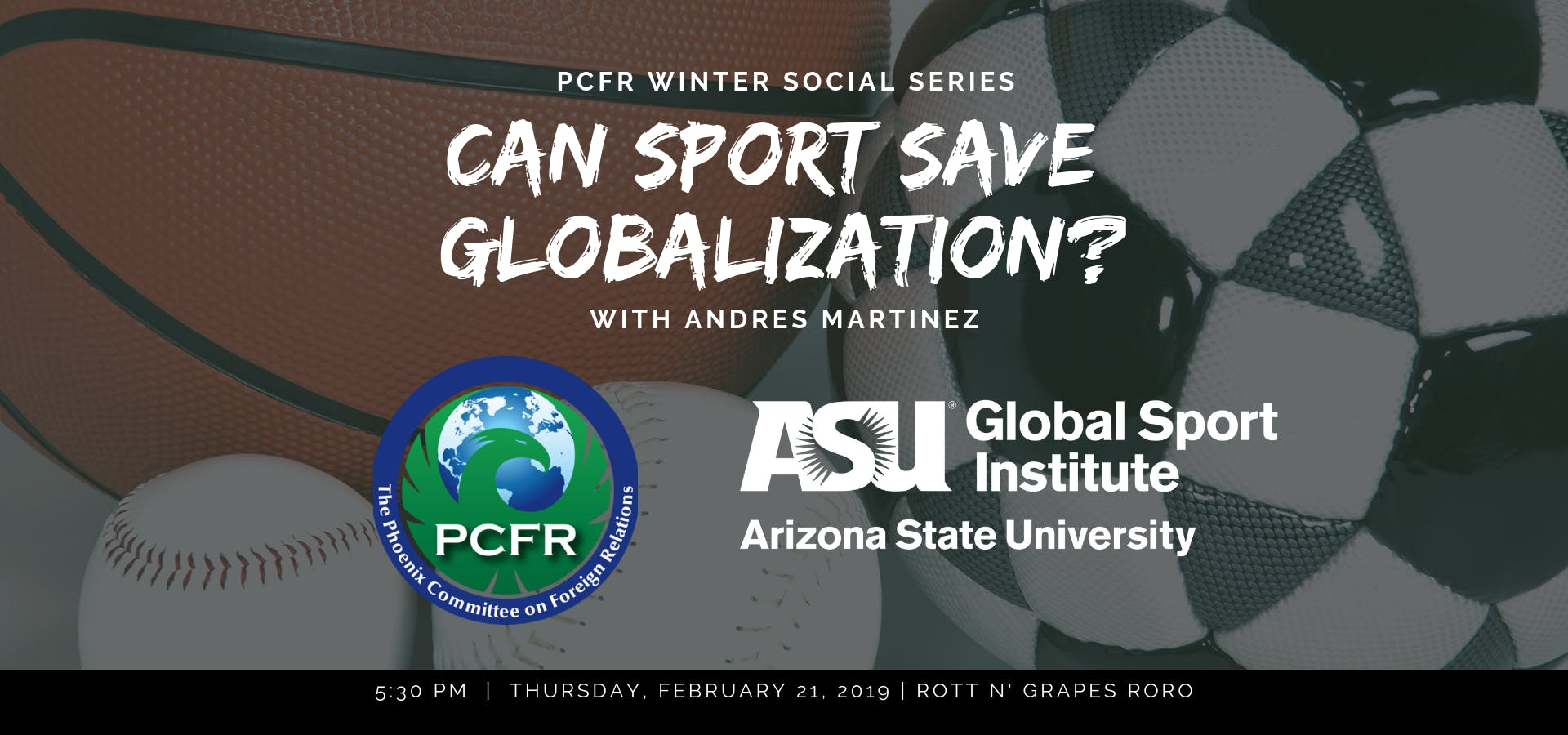 Can Sport Save Globalization? A Discussion with ASU's Andrés Martinez
