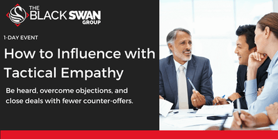 How to Influence with Tactical Empathy - Jersey City
