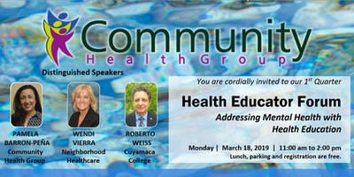 1st Quarter CHG Health Educator Forum