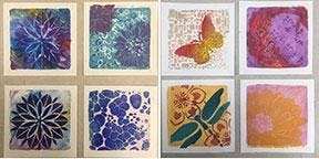 Monoprinting with GOLDEN OPEN Acrylics and Gelli Plates with Jen Livia