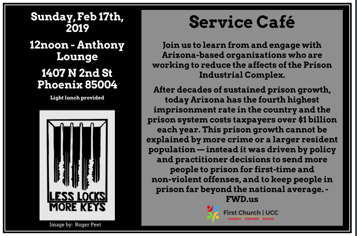 Service Café : The State of Incarceration in Arizona