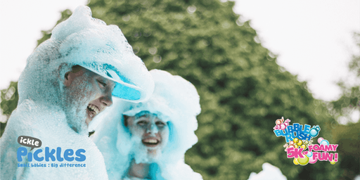 Bubble Rush - Southampton 2019: The fun run through coloured bubbles!