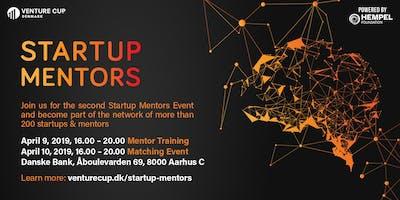 STARTUP MENTORS: Workshop + Matching Event - Batch 2 / Aarhus
