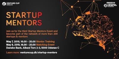 STARTUP MENTORS: Workshop + Matching Event - Batch 3 / Odense