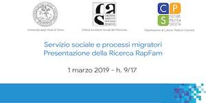Servizio sociale e processi migratori Presentazione del...
