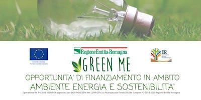 OPPORTUNITA' DI FINANZIAMENTO IN AMBITO AMBIENTE, ENERGIA E SOSTENIBILITA'